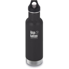 Klean Kanteen Classic Vacuum Insulated Flasche Loop Cap 592ml shale black matt